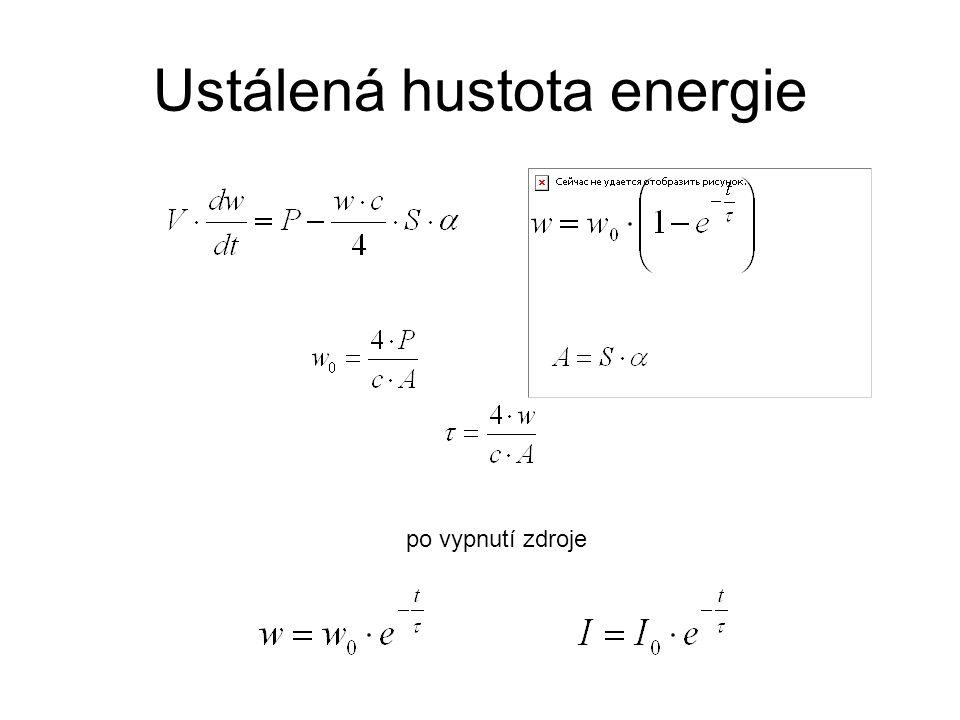 Ustálená hustota energie po vypnutí zdroje