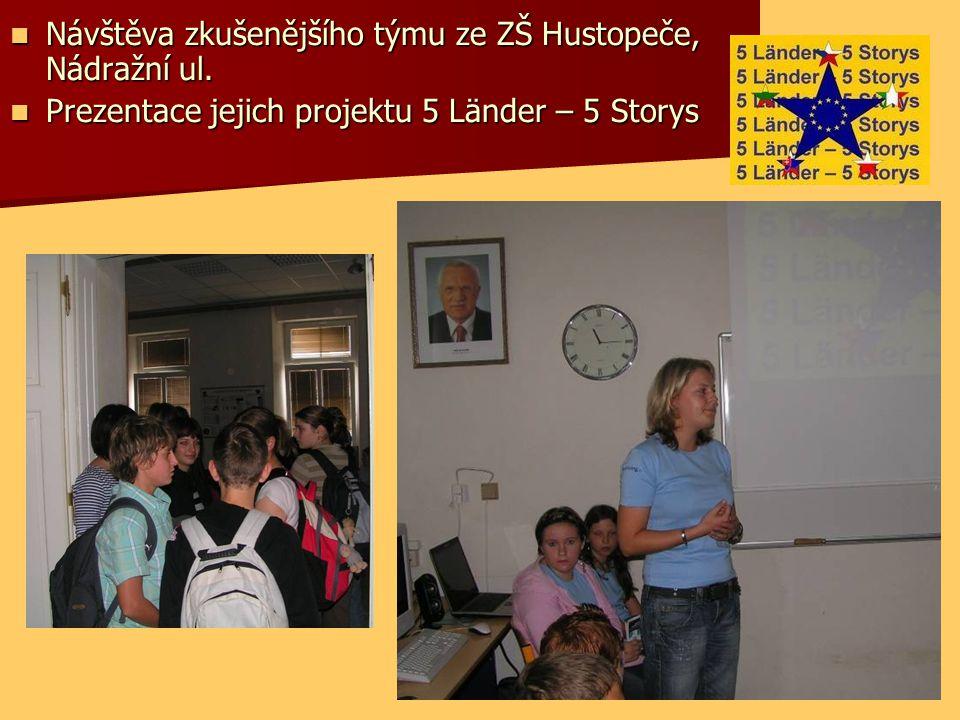 Návštěva zkušenějšího týmu ze ZŠ Hustopeče, Nádražní ul.