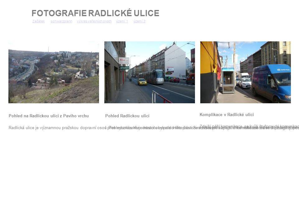 Pohled na Radlickou ulici z Pavího vrchu Radlická ulice je významnou pražskou dopravní osou. Pohled znázorňuje hustotu odpoledního provozu a zasazení