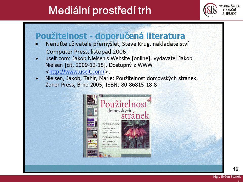18. Mgr. Evžen Staněk :: Mediální prostředí trh