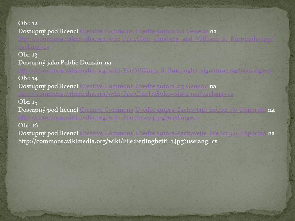 Obr. 12 Dostupný pod licencí Creative Commons Uveďte autora 2.0 Generic na http://commons.wikimedia.org/wiki/File:Allen_Ginsberg_and_William_S._Burrou