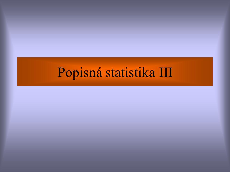 Popisná statistika III