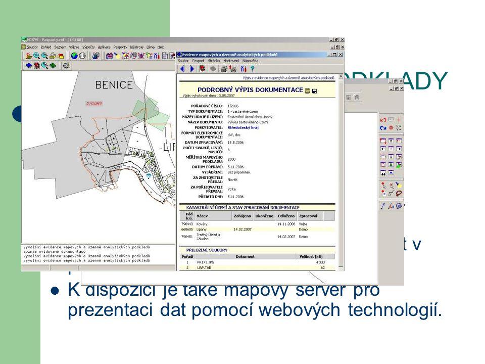 PŘIPOJENÍ DALŠÍCH APLIKACÍ Jedná se o aplikační nadstavby pro řešení různých evidencí a agend, které mají vazbu do mapových podkladů.