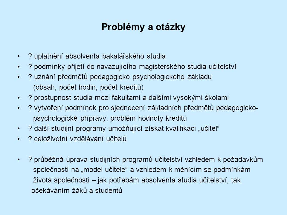 Problémy a otázky .uplatnění absolventa bakalářského studia .
