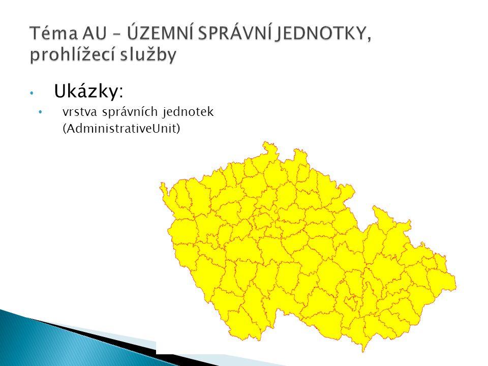 Ukázky: vrstva správních jednotek (AdministrativeUnit)
