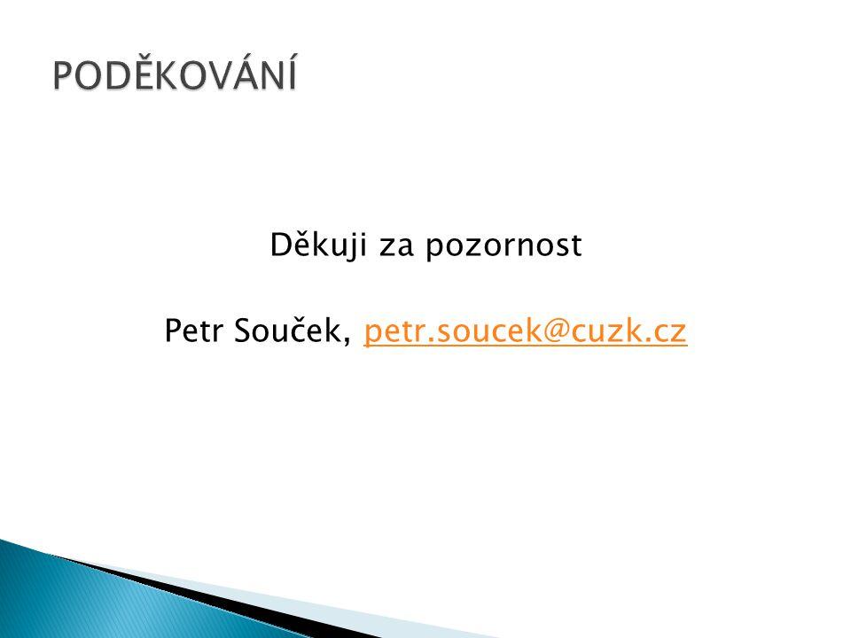Děkuji za pozornost Petr Souček, petr.soucek@cuzk.czpetr.soucek@cuzk.cz