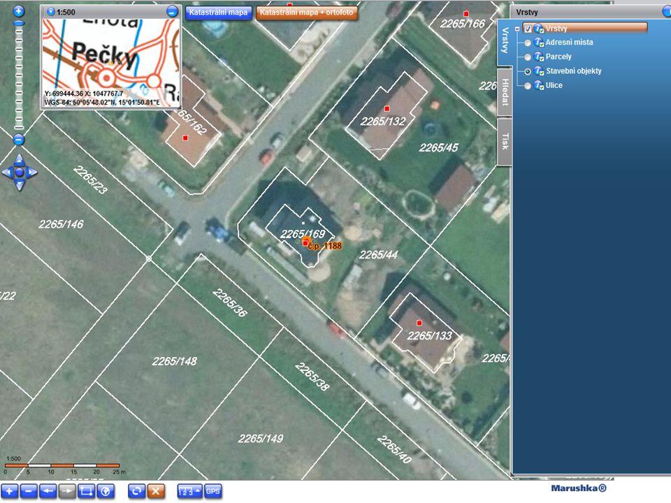 Zdrojem dat je Informační systém územní identifikace (ISÚI) Obsahuje informace o adresách Aktualizace dat probíhá ONLINE Poskytujeme ZDARMA přes prohlížecí (WMS) a stahovací (WFS/GML) služby http://services.cuzk.cz/wms/inspire-ad-wms.asp http://services.cuzk.cz/wfs/inspire-ad-wfs.asp http://services.cuzk.cz/gml/inspire/ad