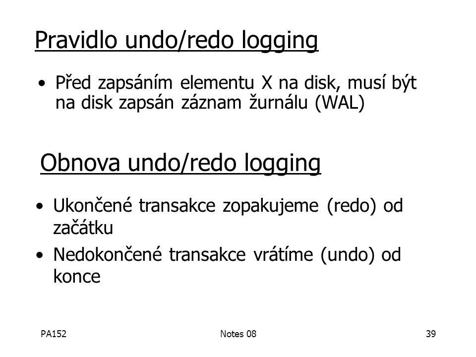PA152Notes 0838 Řešení: undo/redo logging! Update 