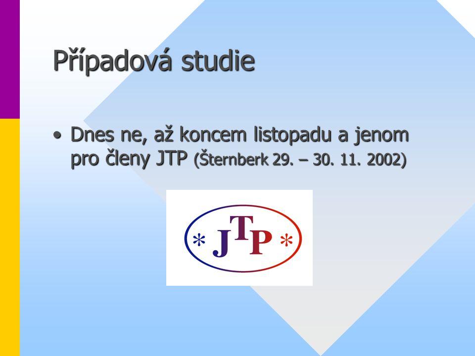 Případová studie Dnes ne, až koncem listopadu a jenom pro členy JTP (Šternberk 29.