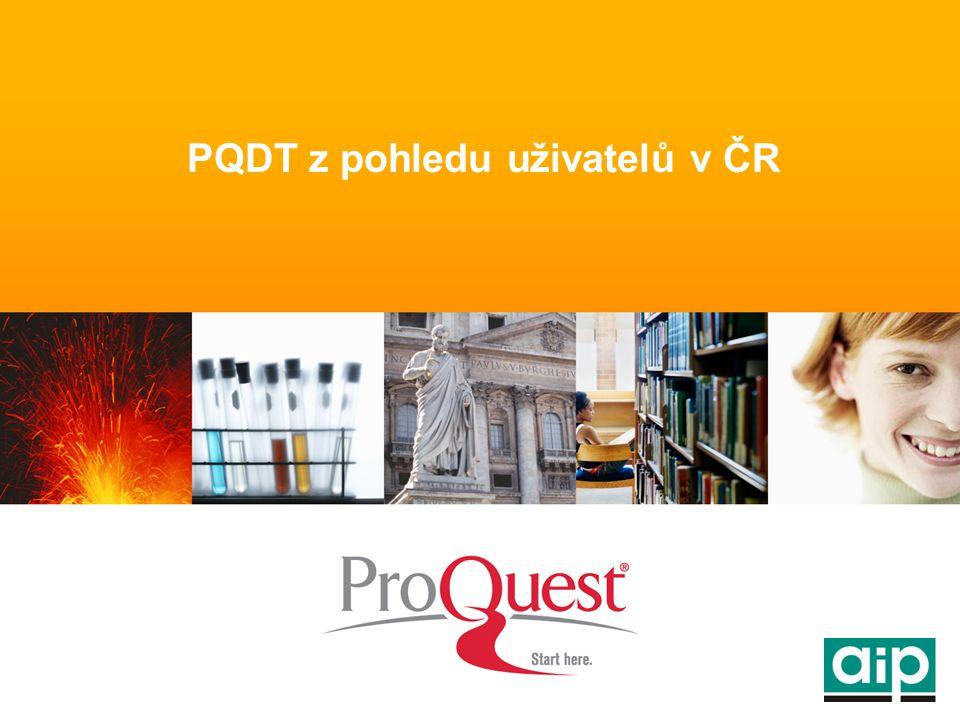 PQDT z pohledu uživatelů v ČR