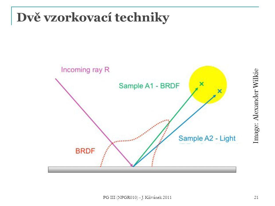 Dvě vzorkovací techniky PG III (NPGR010) - J. Křivánek 2011 21 Image: Alexander Wilkie