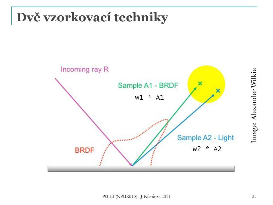 Dvě vzorkovací techniky PG III (NPGR010) - J. Křivánek 2011 37 Image: Alexander Wilkie w1 * A1 w2 * A2