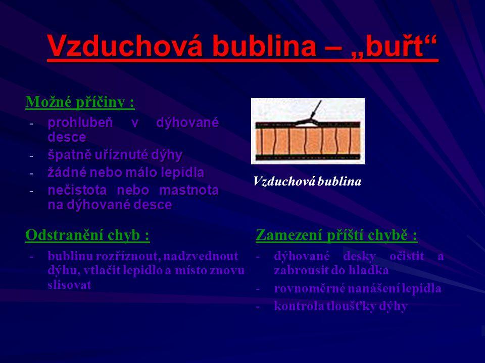 Střední odborné učiliště stavební, odborné učiliště a učiliště Sabinovo náměstí 16 360 09 Karlovy Vary Bohuslav V i n t e r odborný učitel uvádí pro T2 tuto výukovou prezentaci : Chyby při dýhování - Nutsch