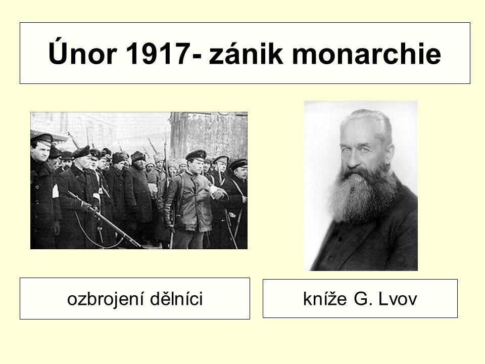 Dvojvládí v Rusku 1917 sověty bolševici menševici eseři prozatimní vláda