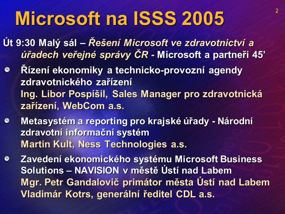 Microsoft na ISSS 2005 Stánek – č.