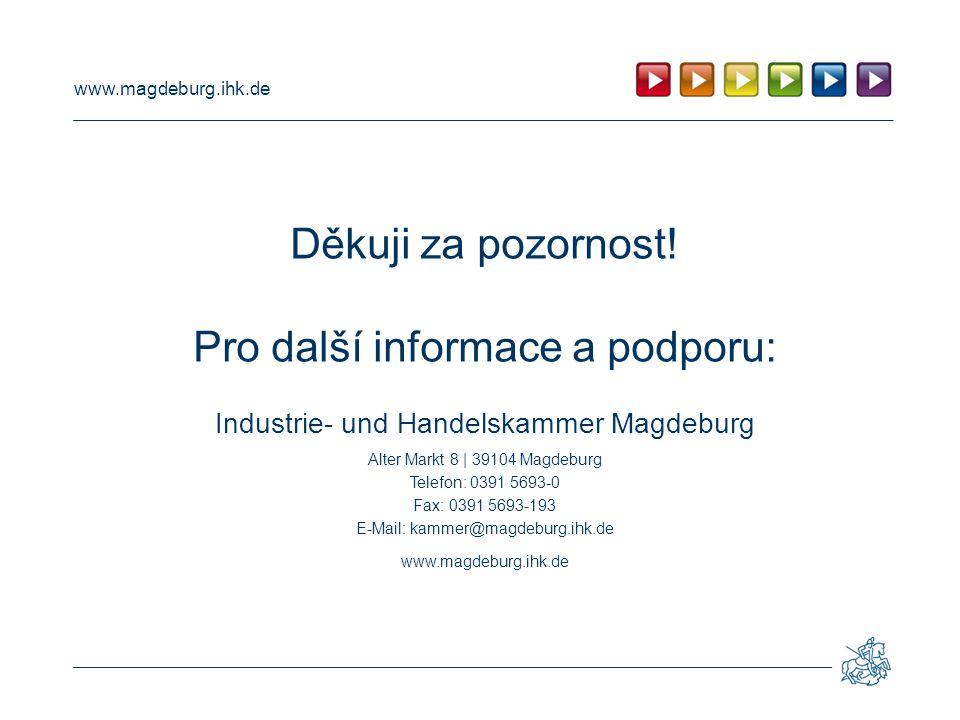 www.magdeburg.ihk.de Děkuji za pozornost.