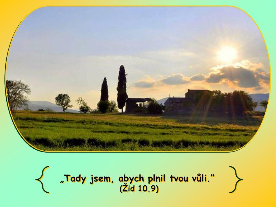 """""""Tady jsem, abych plnil tvou vůli. (Žid 10,9) """"Tady jsem, abych plnil tvou vůli. (Žid 10,9)"""