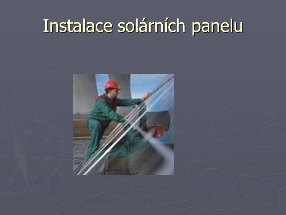 Instalace solárních panelu