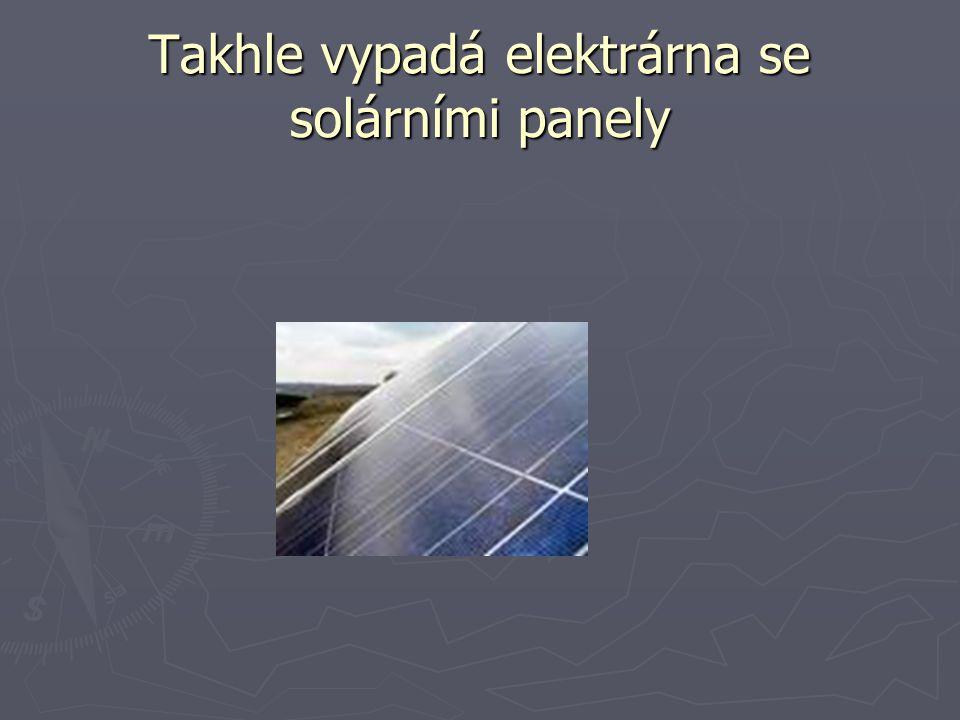 Takhle vypadá elektrárna se solárními panely