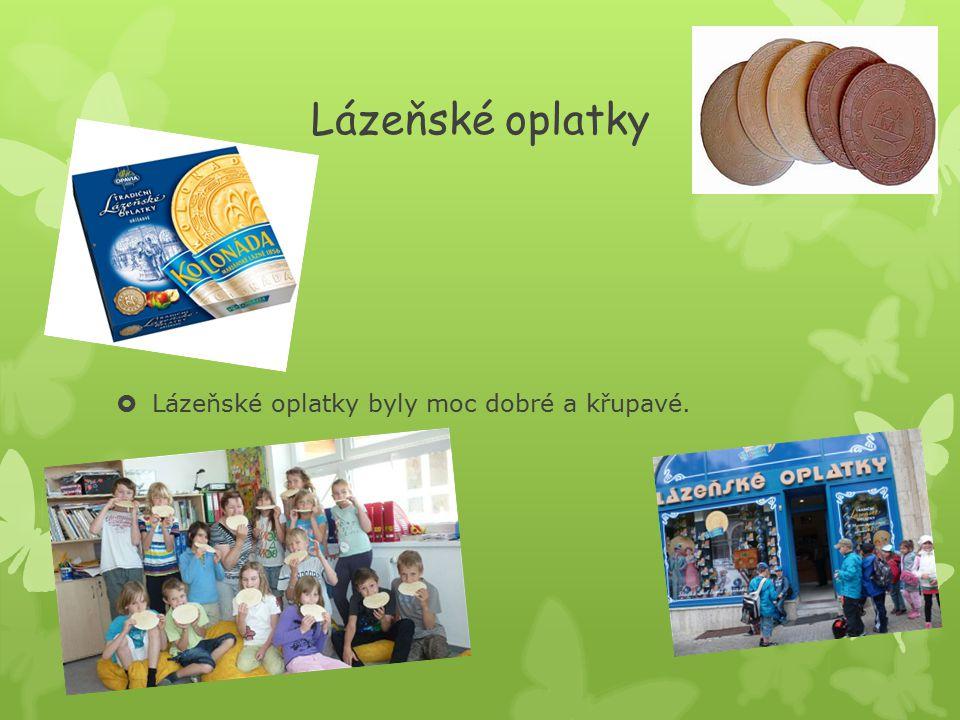 Lázeňské oplatky  Lázeňské oplatky byly moc dobré a křupavé.