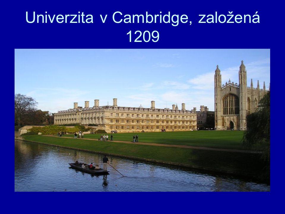 Univerzita v Cambridge, založená 1209