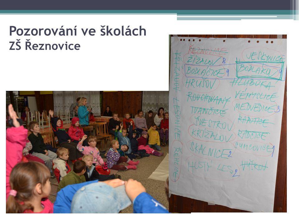Pozorování ve školách ZŠ Řeznovice