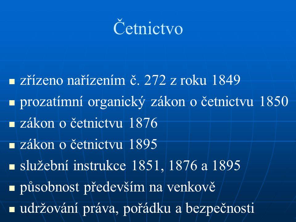 Četnictvo zřízeno nařízením č.