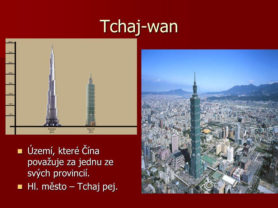 Tchaj-wan Území, které Čína považuje za jednu ze svých provincií. Území, které Čína považuje za jednu ze svých provincií. Hl. město – Tchaj pej. Hl. m