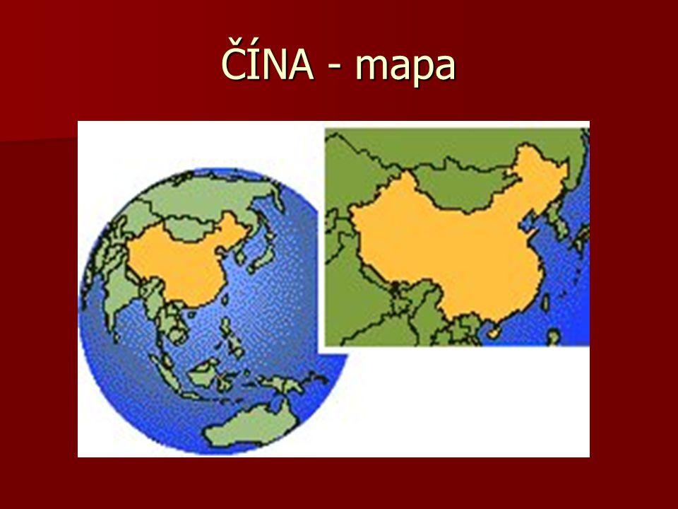 ČÍNA – podrobná mapa