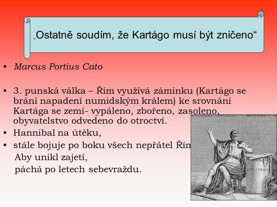 Punské války Marcus Portius Cato 3.