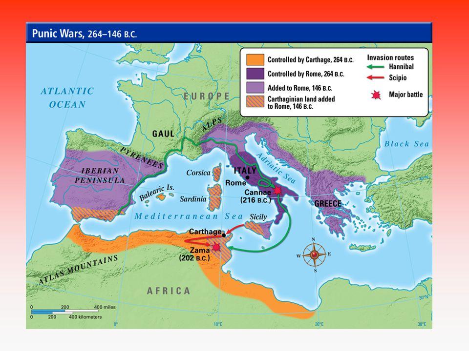 2.punská válka 218 – 202 př.n.l.