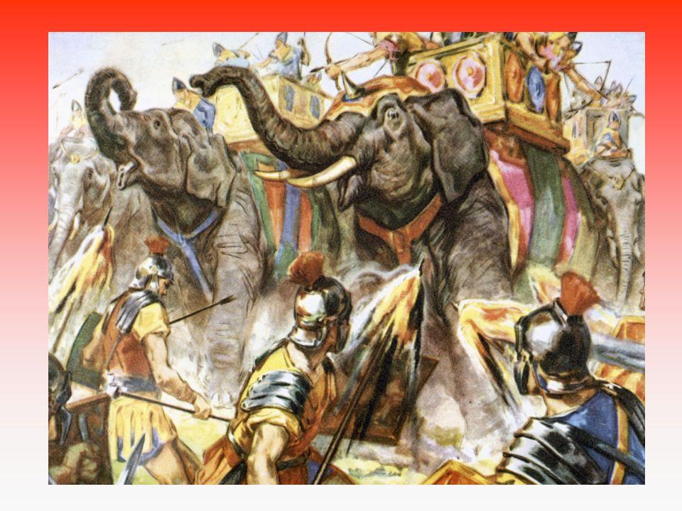 216 v bitvě u Cann Římané na hlavu poraženi Přesto Hannibal postupně vytlačen z Itálie a vrací se domů bránit Kartágo.
