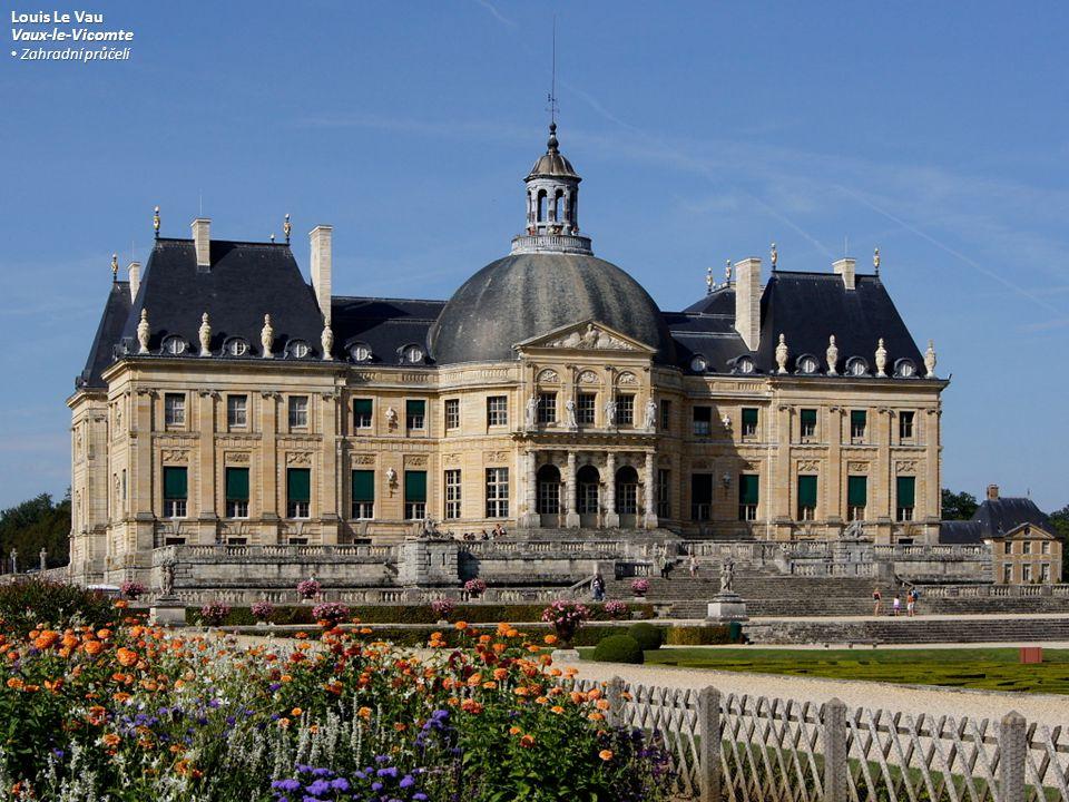 Louis Le Vau Vaux-le-Vicomte Zahradní průčelí Zahradní průčelí