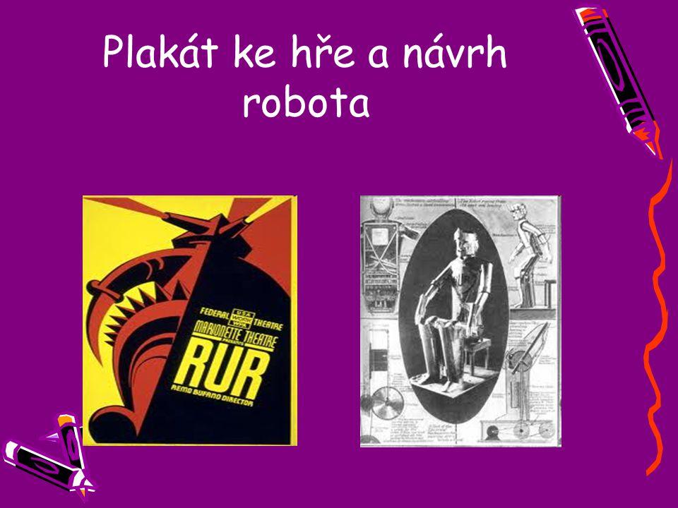 Plakát ke hře a návrh robota