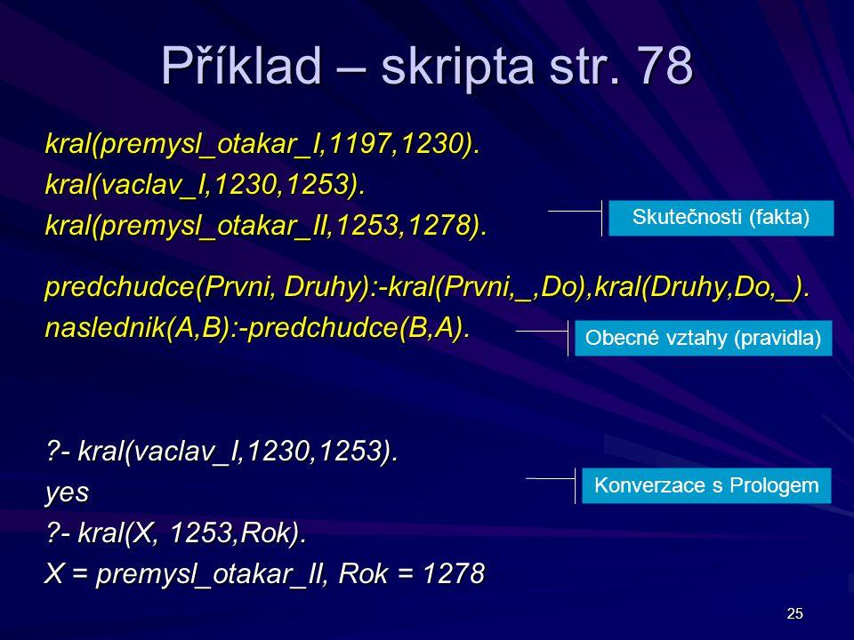 25 Příklad – skripta str.