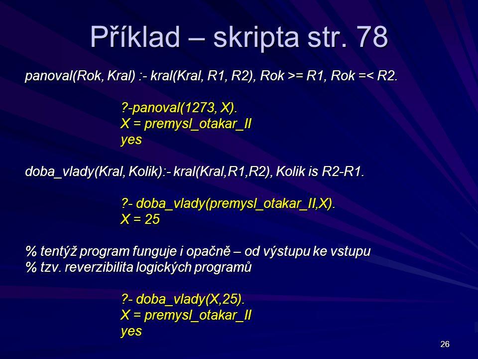 26 Příklad – skripta str.