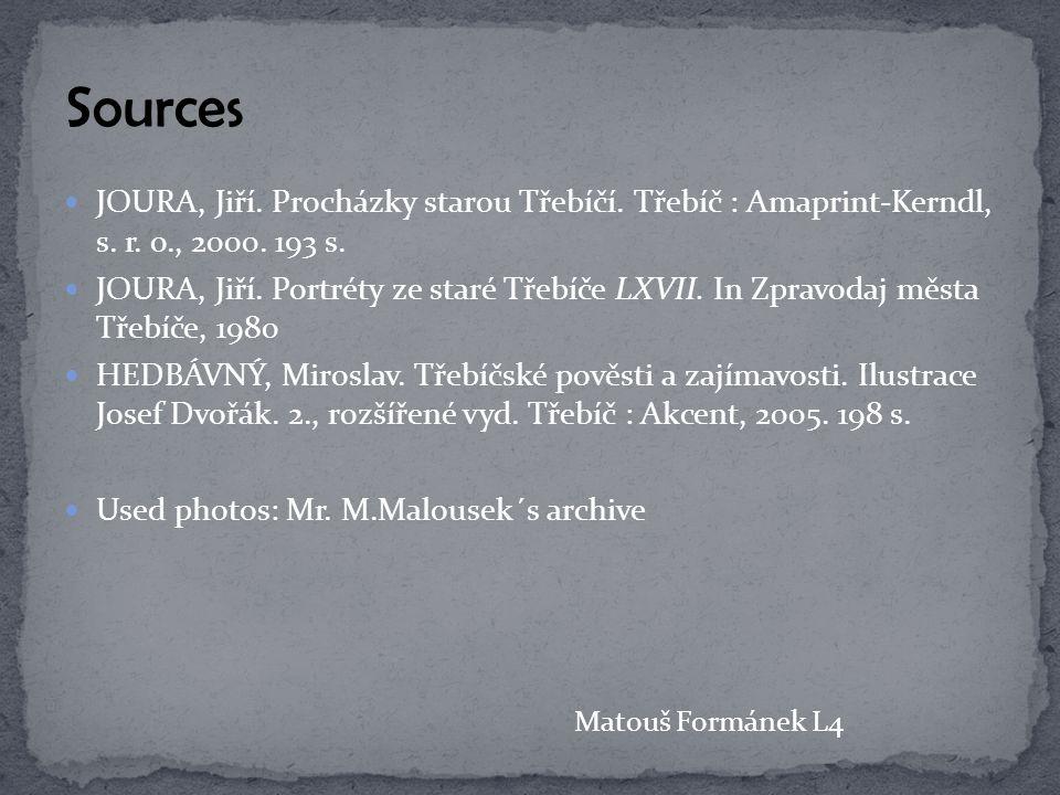 JOURA, Jiří. Procházky starou Třebíčí. Třebíč : Amaprint-Kerndl, s.