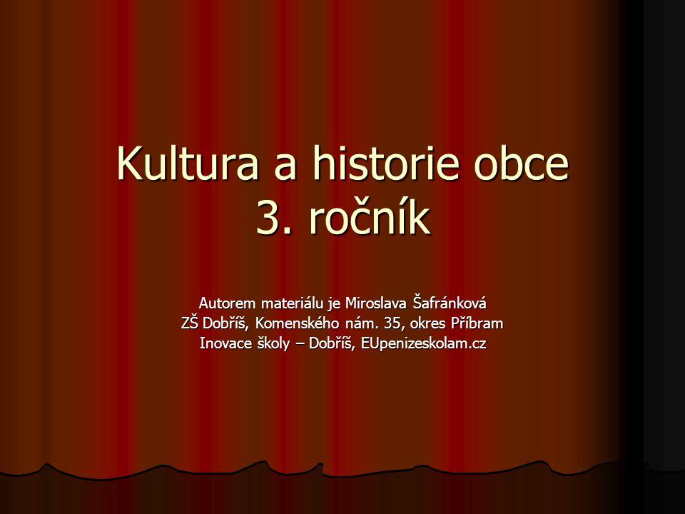 Kultura a historie obce 3.