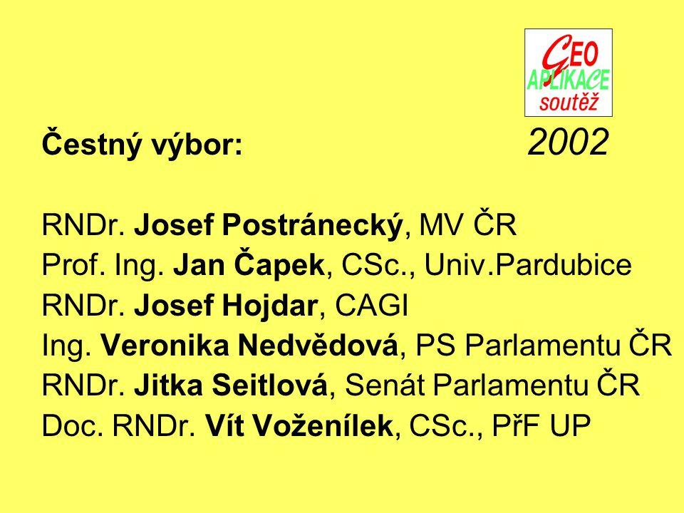 Čestný výbor: RNDr. Josef Postránecký, MV ČR Prof.