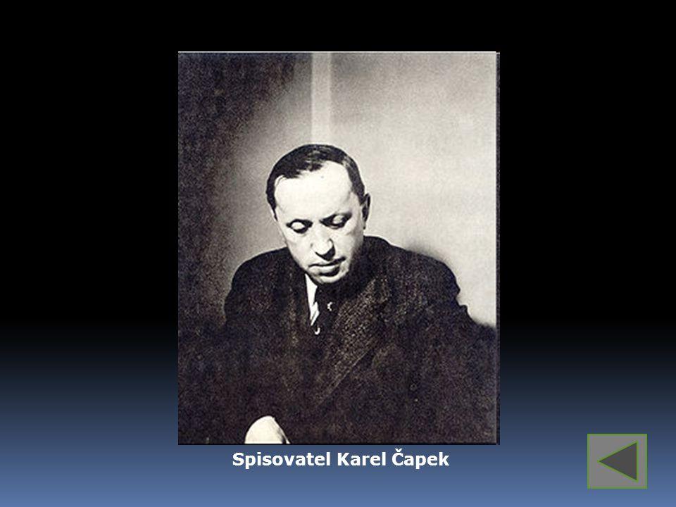 Spisovatel Karel Čapek