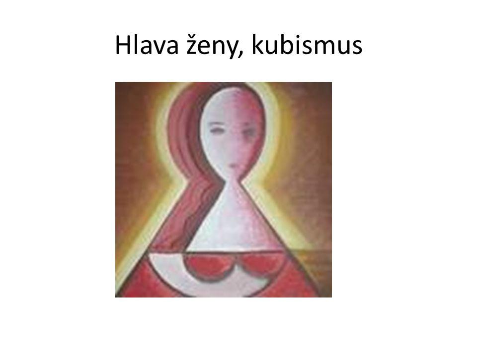 Hlava ženy, kubismus