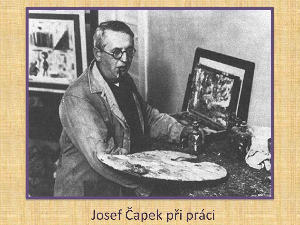 Josef Čapek při práci