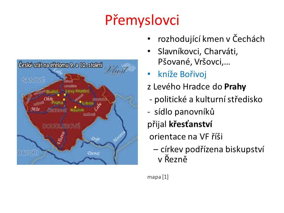 kníže Václav (921 – 935?) vzdělaný; křesťan vstřícná politika vůči Sasku (Jindřich I.