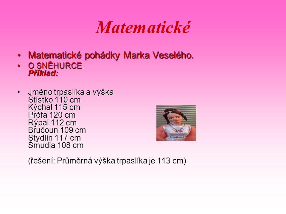 Matematické Matematické pohádky Marka Veselého.Matematické pohádky Marka Veselého.