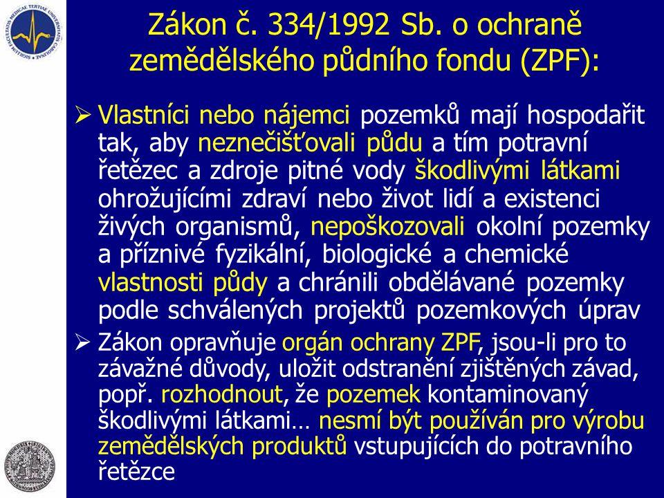 Zákon č.334/1992 Sb.