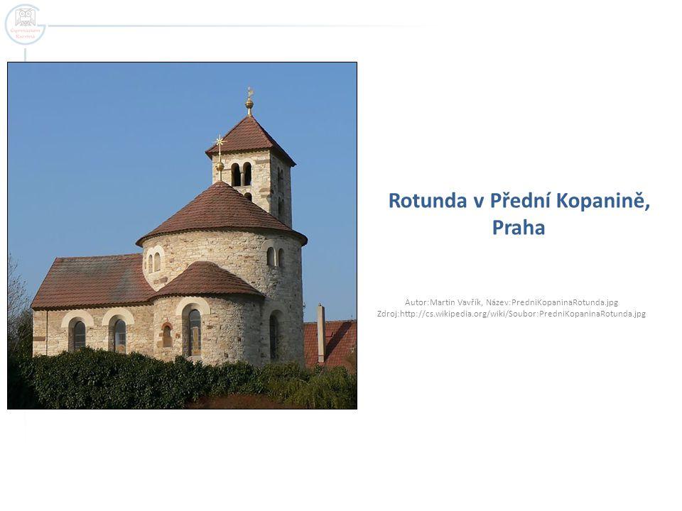 Rotunda v Přední Kopanině, Praha Autor:Martin Vavřík, Název:PredniKopaninaRotunda.jpg Zdroj:http://cs.wikipedia.org/wiki/Soubor:PredniKopaninaRotunda.