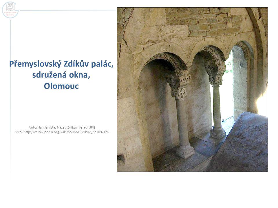 Přemyslovský Zdíkův palác, sdružená okna, Olomouc Autor:Jan Jenista, Název:Zdikuv palac4.JPG Zdroj:http://cs.wikipedia.org/wiki/Soubor:Zdikuv_palac4.J