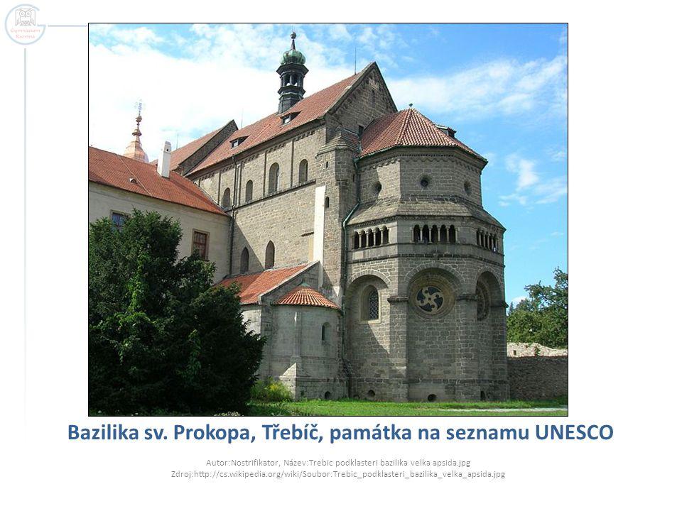 Bazilika sv. Prokopa, Třebíč, památka na seznamu UNESCO Autor:Nostrifikator, Název:Trebic podklasteri bazilika velka apsida.jpg Zdroj:http://cs.wikipe