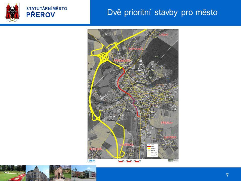 Prezentace podnikatelských ploch pro investory 7 STATUTÁRNÍ MĚSTO PŘEROV Dvě prioritní stavby pro město