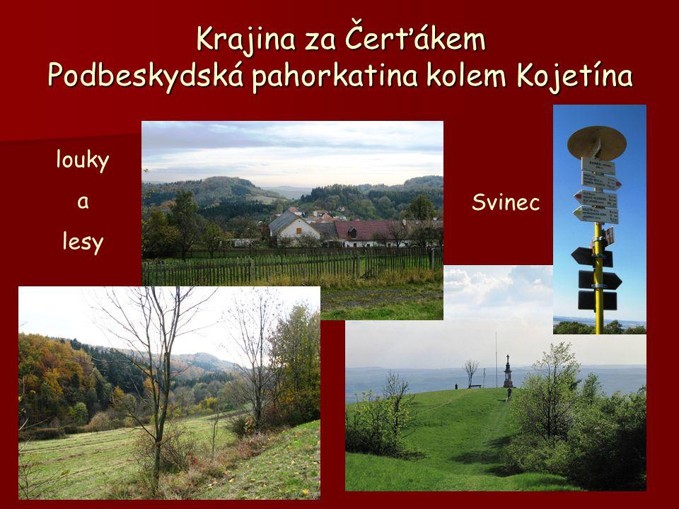 Krajina za Čerťákem Podbeskydská pahorkatina kolem Kojetína louky a lesy Svinec